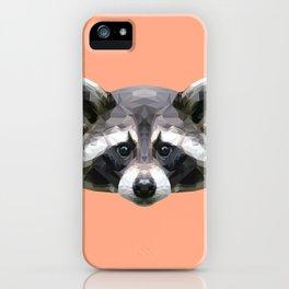 Raccoon // Apricot / Peach iPhone Case