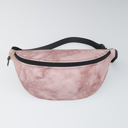 Pink and Rose Gold Veined Faux Marble Repeat Fanny Pack