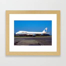 PanAm 747 Clipper Framed Art Print