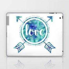 Blue Arrows Love Laptop & iPad Skin