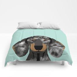 Doxie Dachshund merle dapple dog cute must have dog accessories dog gifts cute doxies dachshunds des Comforters