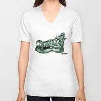 converse V-neck T-shirts featuring Converse Bite  by Marisa
