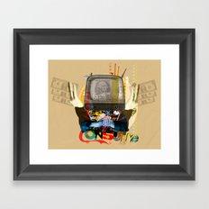 Modern Times - Consume TV Framed Art Print