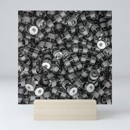 Chrome dumbbells Mini Art Print