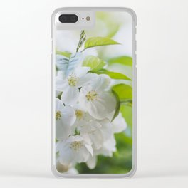 Blossoms in White - Flower Photography Clear iPhone Case