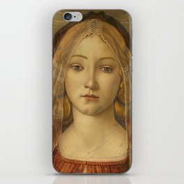 """Sandro Botticelli """"The Virgin and Child with Saint John and an Angel"""" The Virgin iPhone Skin"""