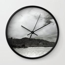Obsidian Mountains Wall Clock