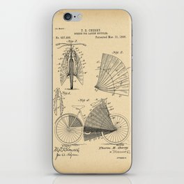 1896 Patent Bicycle - SCREEN FOR LADIES BICYCLES iPhone Skin