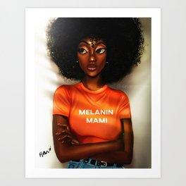 Melanin Mami Art Print