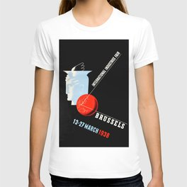Vintage Brussels 1938 Industry poster T-shirt