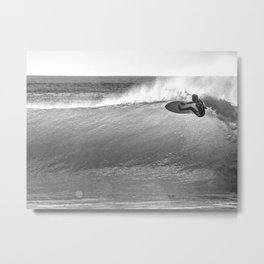 Surfing at CoXos, Ericeira, Portugal Metal Print