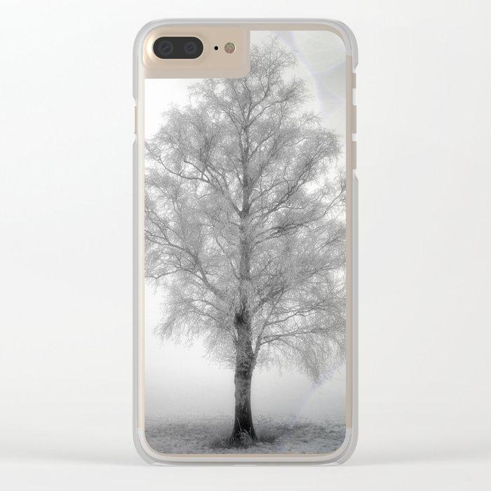Birch in winter Clear iPhone Case