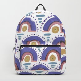 Boho Rainbow - Dusty Purple Backpack