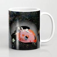 ladybug Mugs featuring LADYBUG by auntikatar