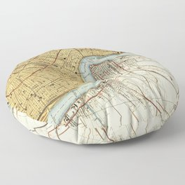 N O map, us maps, office decoration Floor Pillow
