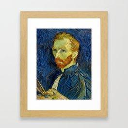 Vincent Van Gogh Self Portrait With Palette Framed Art Print
