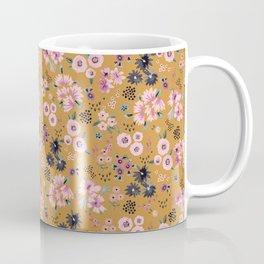 Artful little flowers Gold yellow Coffee Mug