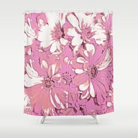 daisy Shower Curtains featuring Daisy  by Saundra Myles