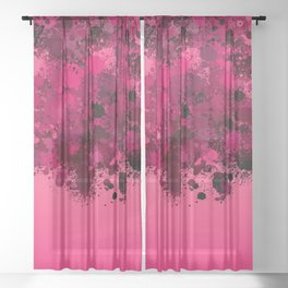 paint splatter on gradient pattern mag Sheer Curtain