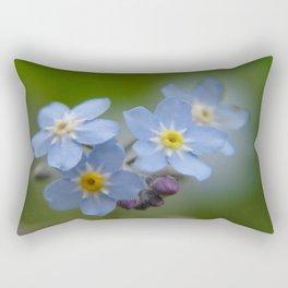 Close-up Forget Me Not - Blue Myosotis Rectangular Pillow