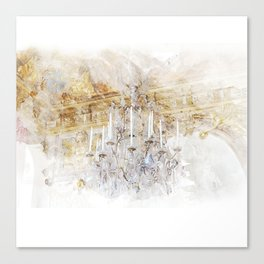 Palace Chandelier Gold Canvas Print