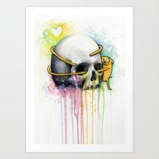 Jake the Dog and Skull Art Print