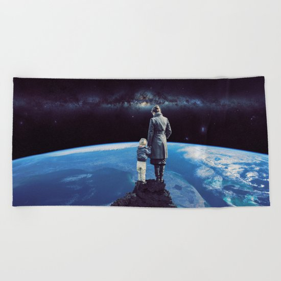 Where the moments are growing up! Beach Towel
