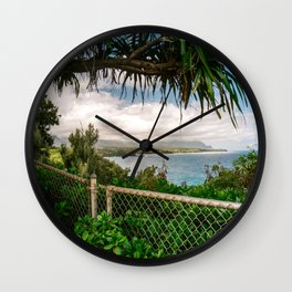 Kilauea Lookout Kauai Hawaii | Tropical Beach Nature Ocean Coastal Travel Photography Print Wall Clock