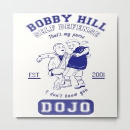 Bobby Hill Self Defense Metal Print