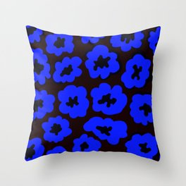 Blue flower pattern Throw Pillow