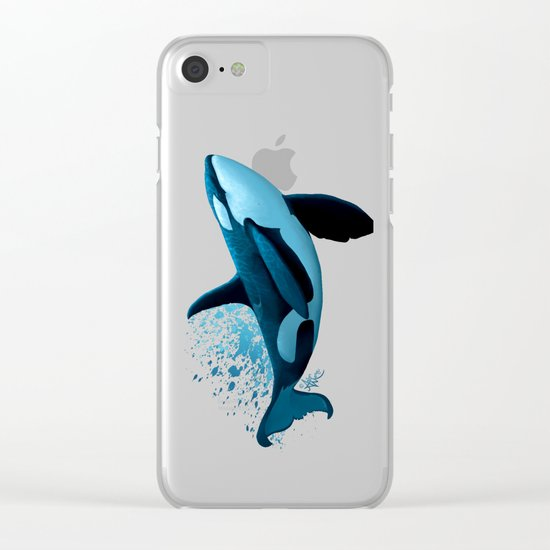"""The Dreamer"" by Amber Marine ~ Orca / Killer Whale Art Clear iPhone Case"