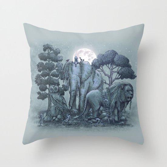 Midnight in the Stone Garden (colour option) Throw Pillow