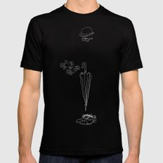 Another fine day in London, rain, cold and misery Black MEDIUM Mens Fitted Tee
