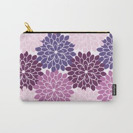 Floral Petal in Ultra Violet, Purple and Lavender Carry-All Pouch