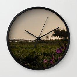 Ventura at Sunset Wall Clock