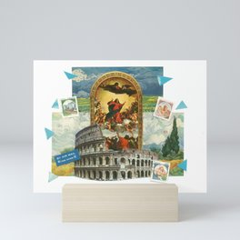Religious Colosseum Collage Mini Art Print