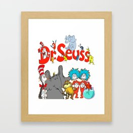 DrSeuss - Read Across America Framed Art Print
