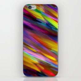 Colorful digital art splashing G398 iPhone Skin
