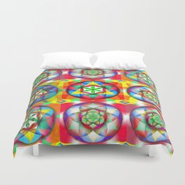 Three Six Nine - The Sacred Geometry Collection Duvet Cover