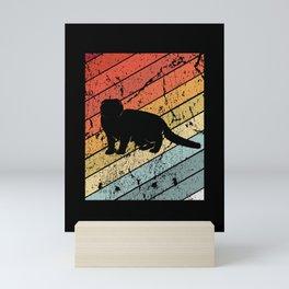 Retro Scottish Fold Cat Pet Animal Gift Mini Art Print