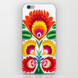 Folk flowers iPhone Skin