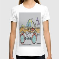 truck T-shirts featuring Rocket Truck by Ryan van Gogh