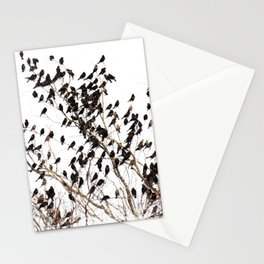 Settling Birds On a Tree  Stationery Cards