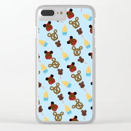 Snack Goals Theme Parks Clear iPhone Case
