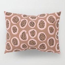 Raw brush minimal fruit garden abstract circle pattern Pillow Sham