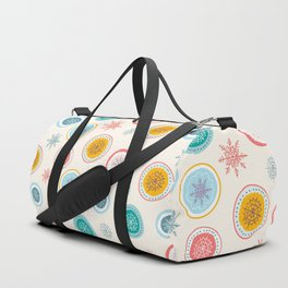 Abstract Christmas Snowflakes Pattern Duffle Bag