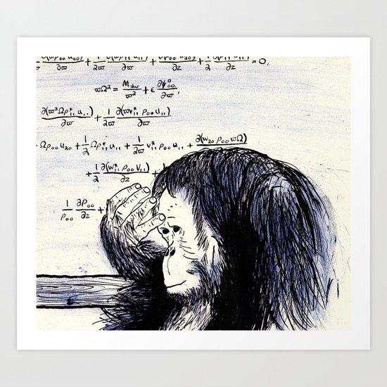 The Thinker Art Print