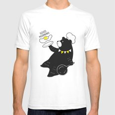 Sunny Side  Up White SMALL Mens Fitted Tee