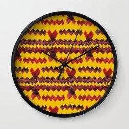 Ethnic diamond Wall Clock