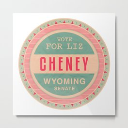Liz Cheney For Senate Metal Print